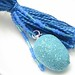 Blue Easter Egg Beaded Tassel