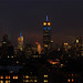 NYC Skyline:  Empire State Building in Blue & Yellow for E.U. Day