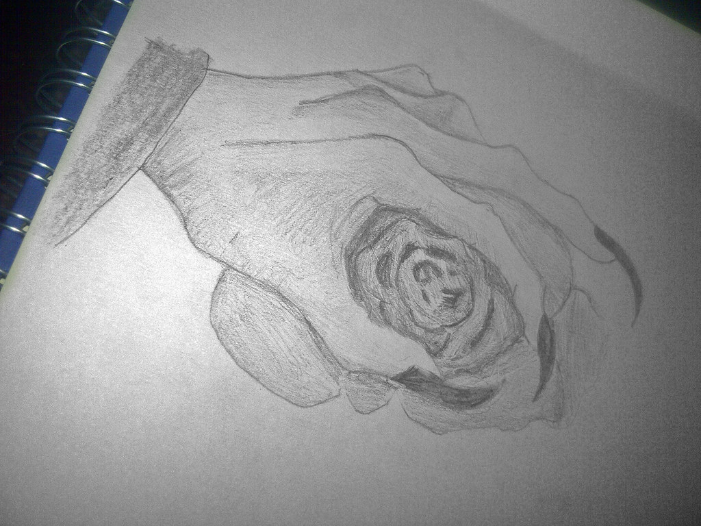 Hand Holding Rose Drawing Easy Drawings of Hands Holding