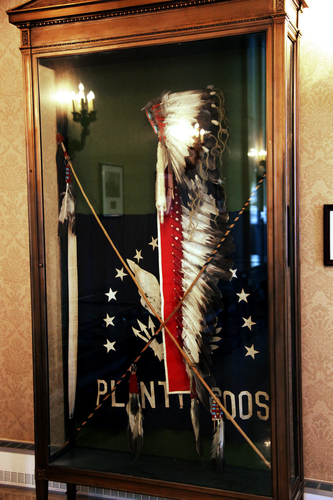 War Bonnet And Coup Sticks Given To The World War I Unknow