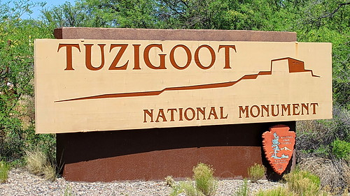 Tuzigoot National Monument - Entrance Sign | by Al_HikesAZ