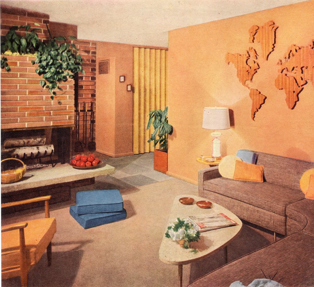 Mid Century Living Room Pinterest