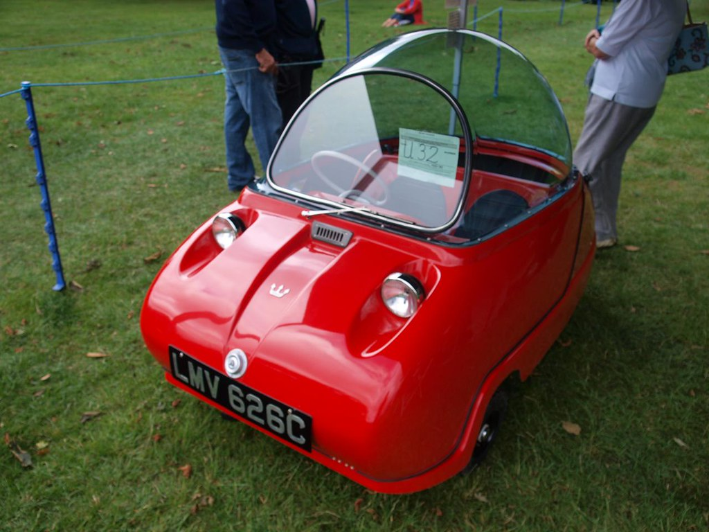 little red micro car maserati aka peel bubble car flickr. Black Bedroom Furniture Sets. Home Design Ideas