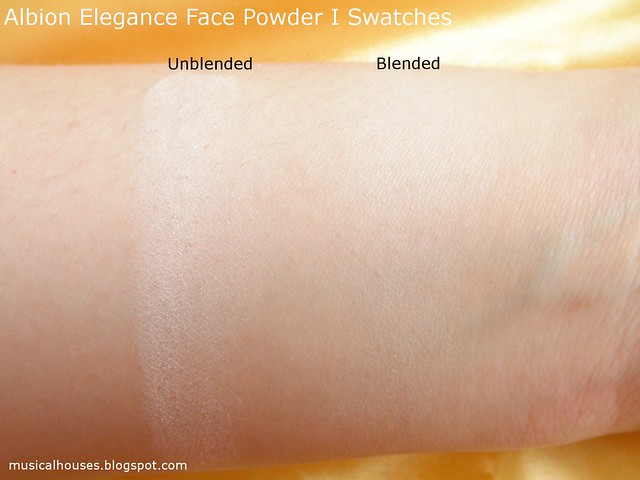 Albion Elegance Face Powder Swatches