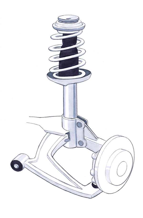 macpherson strut suspension drawing drawn with marker and flickr. Black Bedroom Furniture Sets. Home Design Ideas