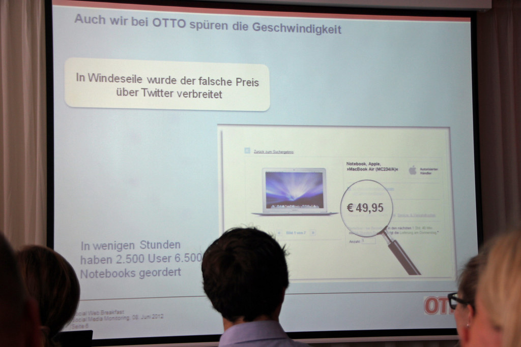 Präsentation von OTTO beim Social Web Breakfast in Hamburg (Quelle: Holger Rings)