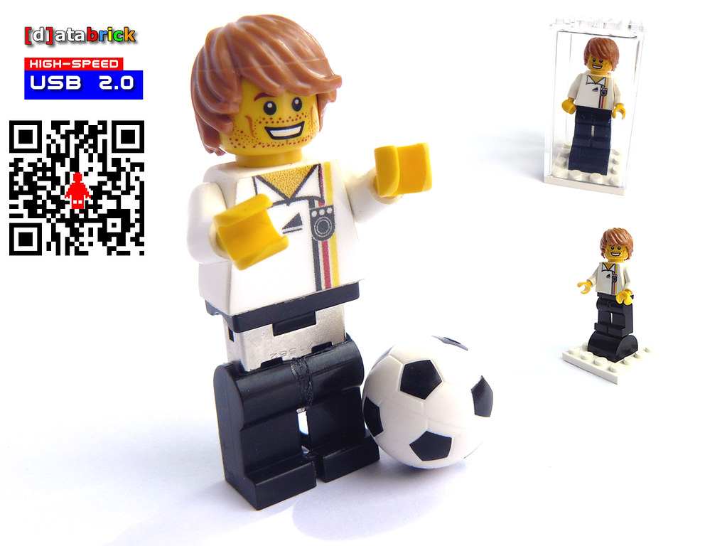 USB Flash Drive in Lego Minifigure German Football Player