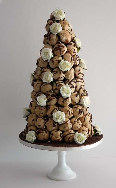 Profiterole Tower Wedding Cake