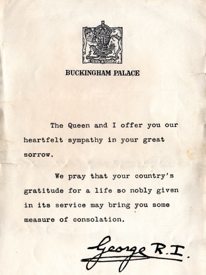 Ww Letter Of Condolence  British  Letter Of Condolence To  Flickr