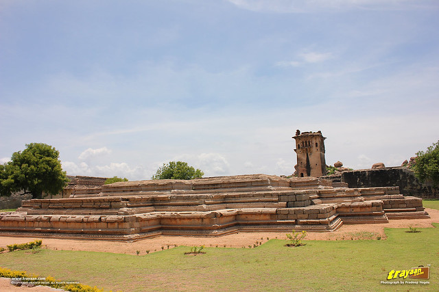 Remnants of the Queen's Palace in Zenana Enclosure, Hampi, Ballari district, Karnataka, India