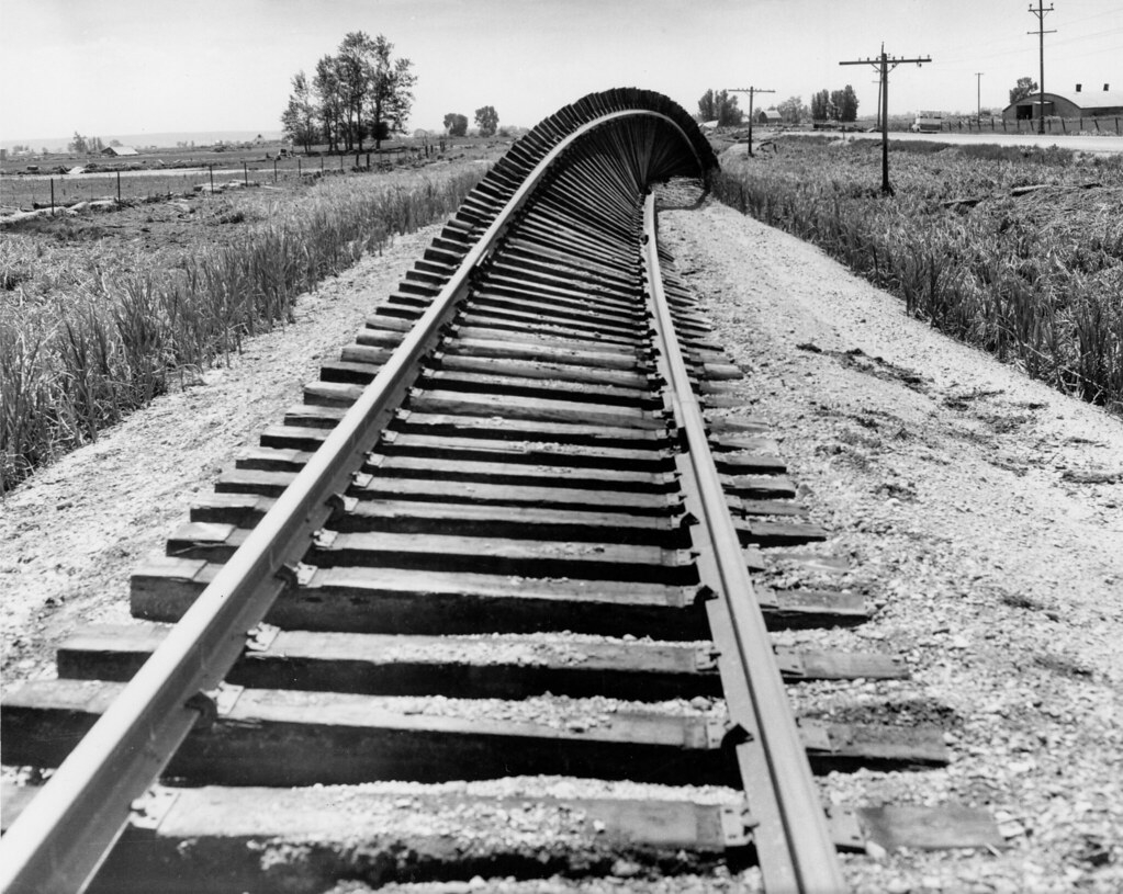 damaged railroad tracks damage from the teton flood in 197 flickr. Black Bedroom Furniture Sets. Home Design Ideas