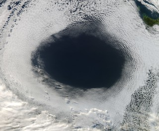 """Cloud Hole"" Near Tasmania 