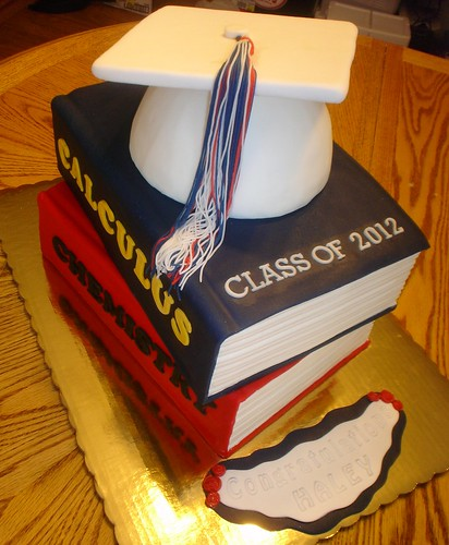 Cake Designs Books Download : Grad Cap with Books Flickr - Photo Sharing!