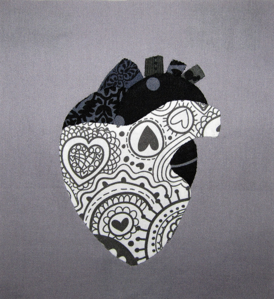 anatomical heart | applique block for the Fab Bee. i made ...