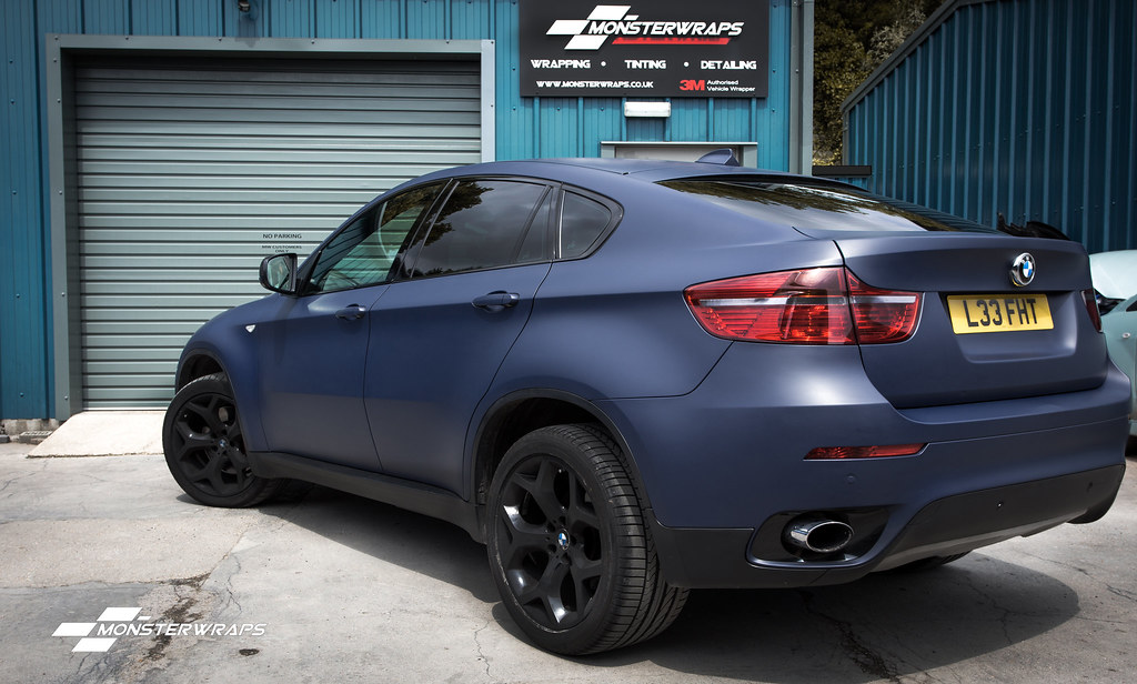 Bmw X6 Matte Dark Blue Navy Wrap Bmw X6 Matte Dark Blue