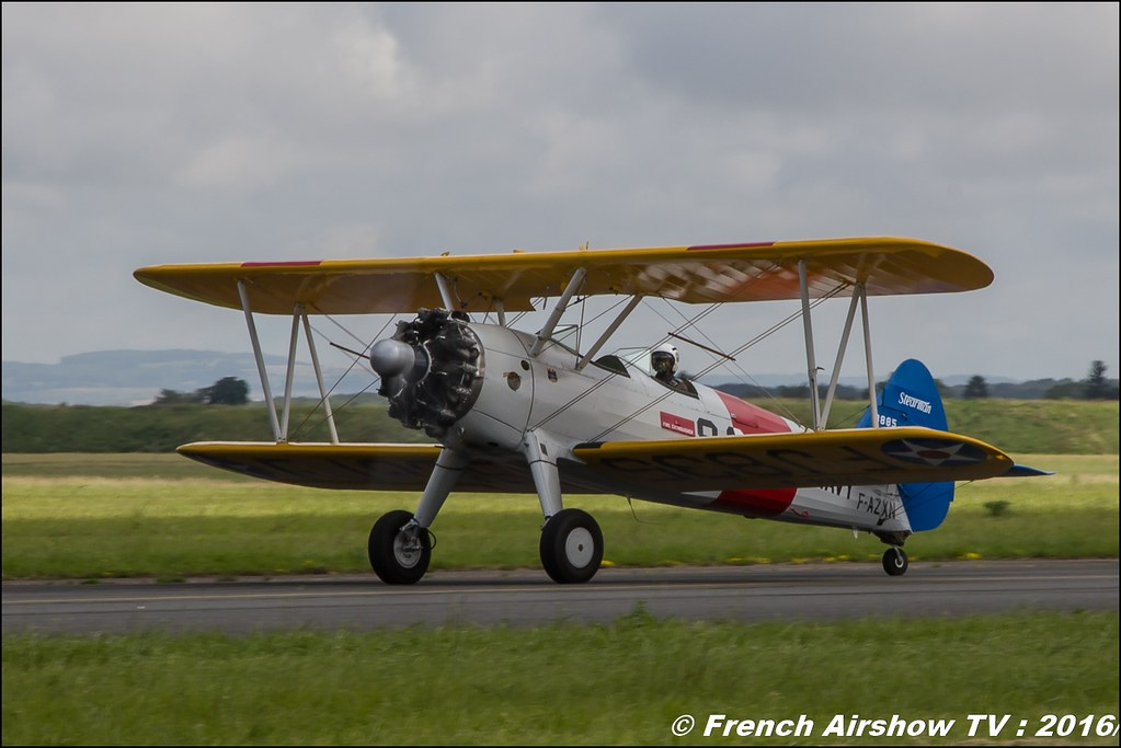 Boeing PT-27 Kaydet - F-AZXN , France's Flying Warbirds ,Meeting de l'air BA-702 Avord , Meeting Aerien Avord 2016 , FOSA , Armée de l'air , Canon Reflex , EOS System