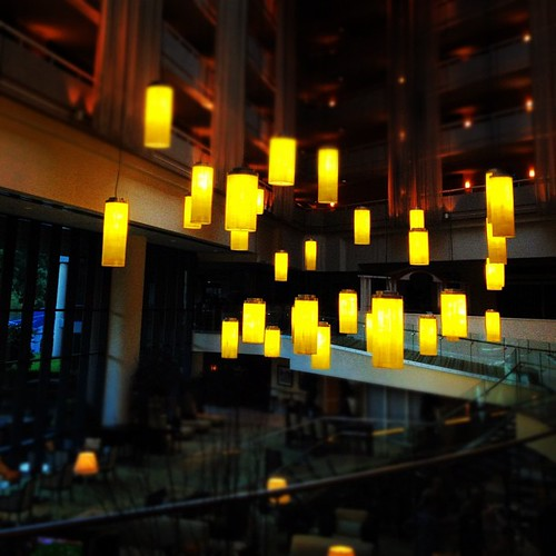 Suspended #Sawgrass #yellow #lights #scl_travel | by shirley319