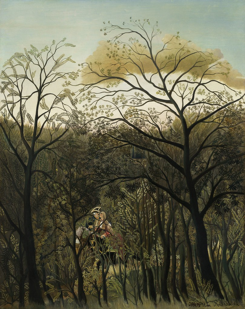 Henri Rousseau - Rendezvous in the Forest [1889] | Henri ...
