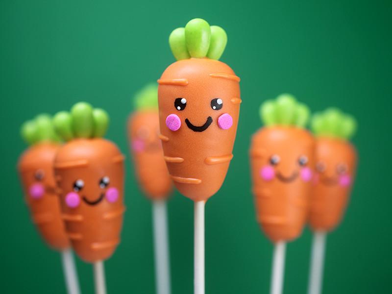 Carrot Shaped Cake Pops