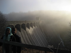 Laggan Dam on the river Spean in Glenspean