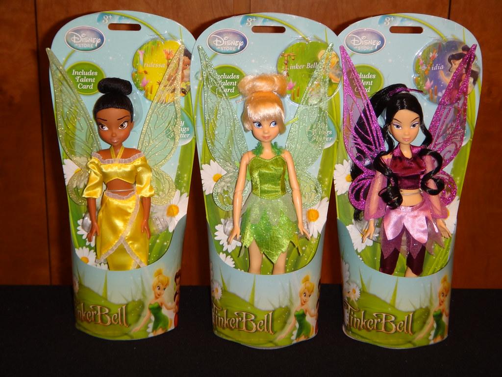 uk disney store 10 fairy dolls with flutter wings irid