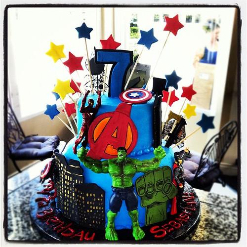 Avenger Cake Topper Figures