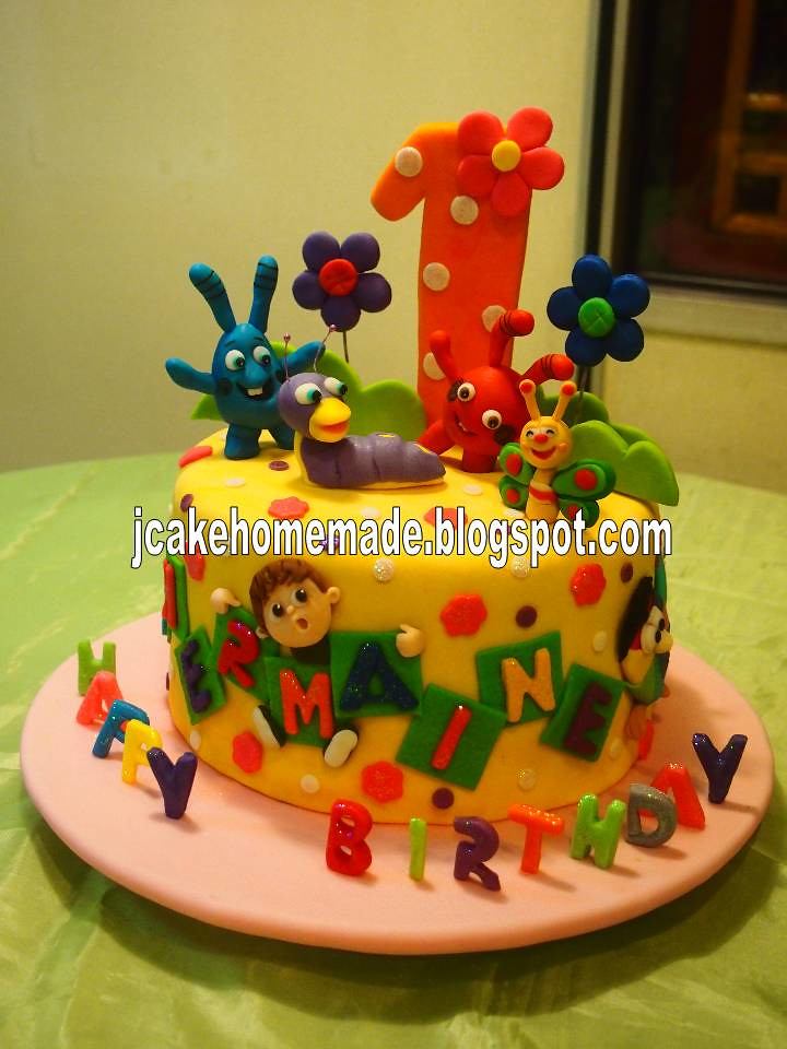 Baby TV theme birthday cake  Happy 1st birthday Shermaine ...
