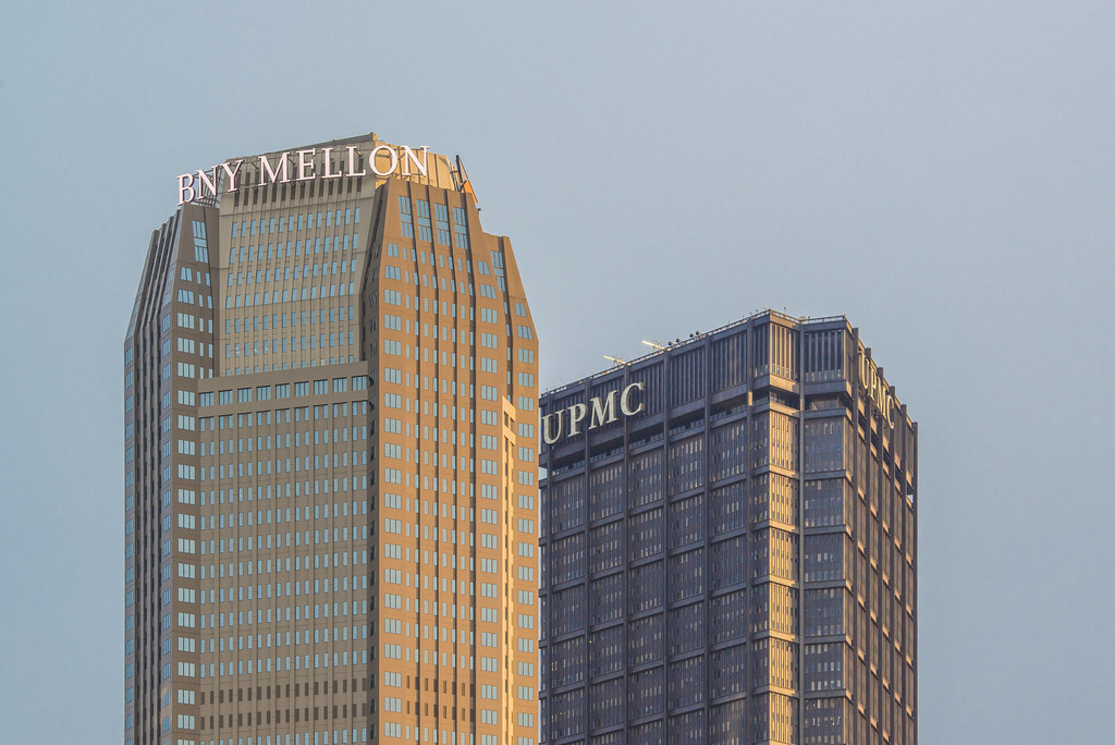 the steel building and bny mellon building in downtown pit