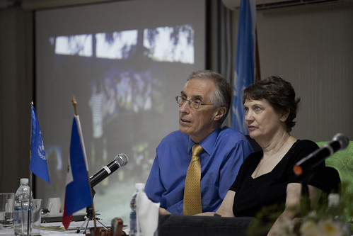 Nigel Fisher and Helen Clark meet w/ UNDP Haiti staff members | by United Nations Development Programme