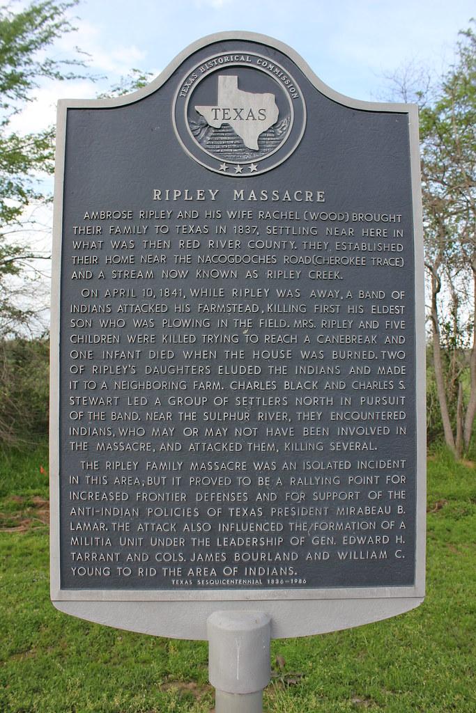 Ripley Massacre Franklin County Texas Historical Marker