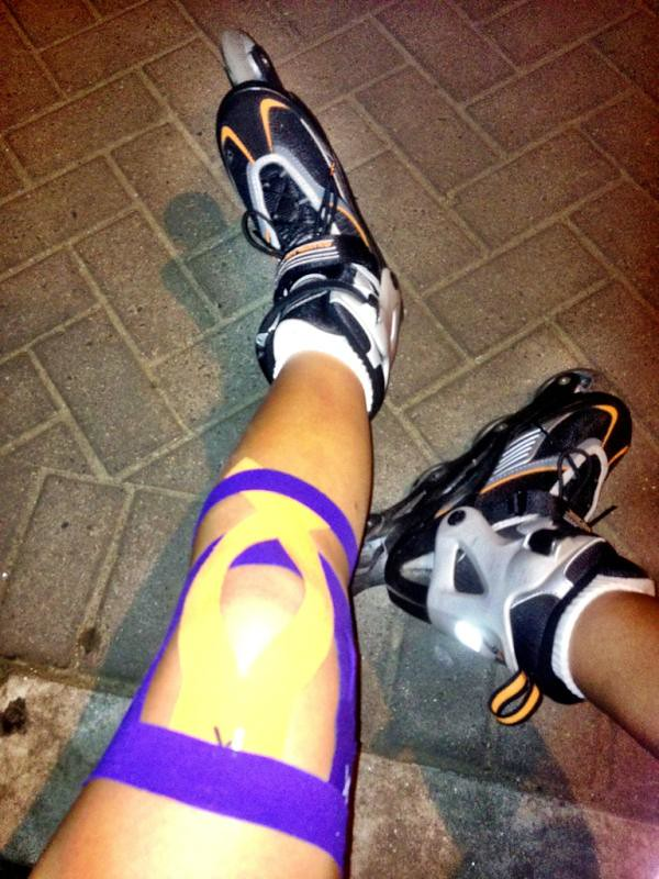 how to tape a knee for pcl support