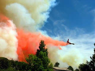 Air Tanker 11 saving lives & structures during the Station Fire in LA County, CA #CAFire | by Fireground
