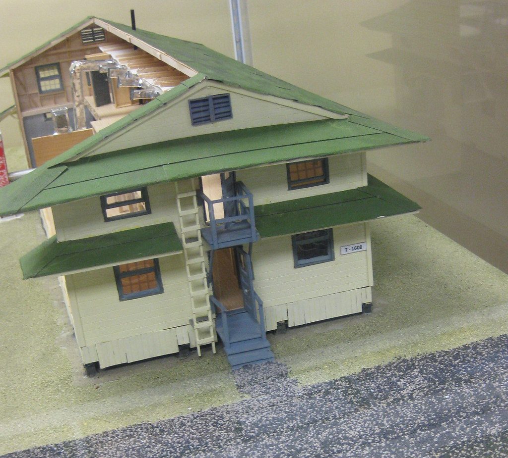 Scale Model of a Fort Devens Barracks, New Exhibit for the