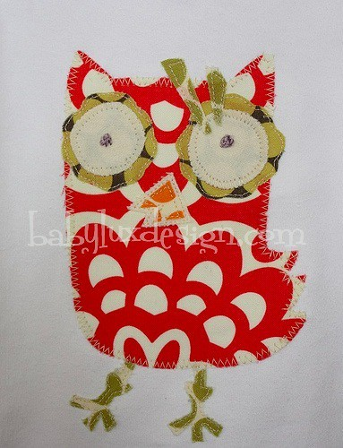 owl applique | by BabyLuxDesigns