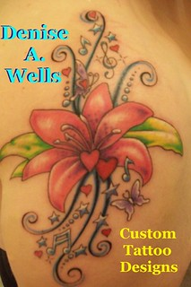 Lily Song Tattoo Design by Denise A. Wells | by ♥Denise A. Wells♥