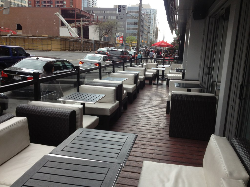 Patio furniture at toronto restaurant taken at the for B furniture toronto