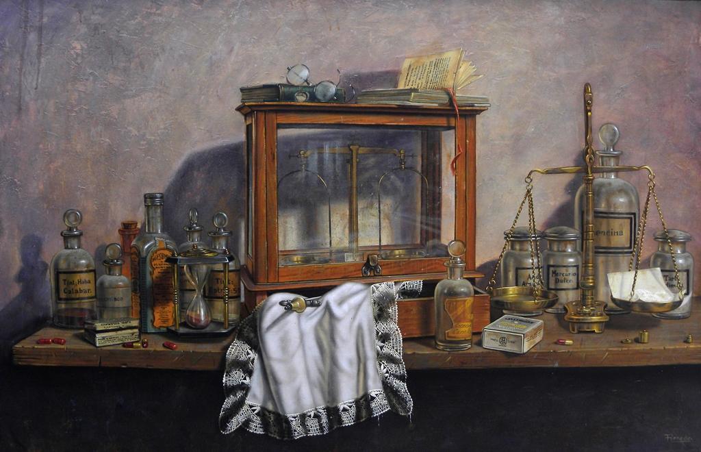 Cosas de botica 100x65 ricardo renedo es un pintor de la e flickr - Busco trabajo de pintor en madrid ...
