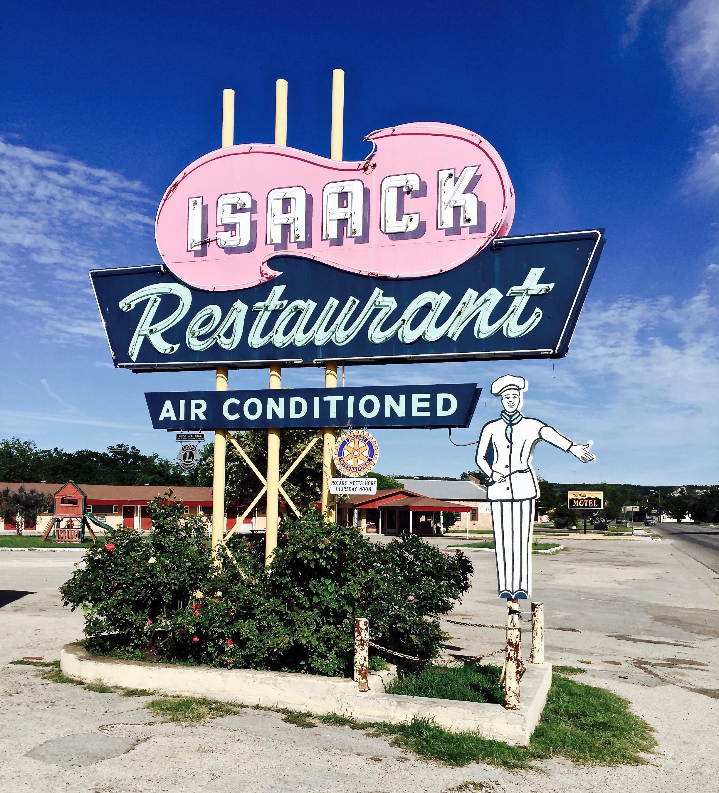 Isaack Restaurant - 1606 Main Street, Junction, Texas U.S.A. - June 7, 2015