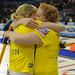 Team Sweden celebrates