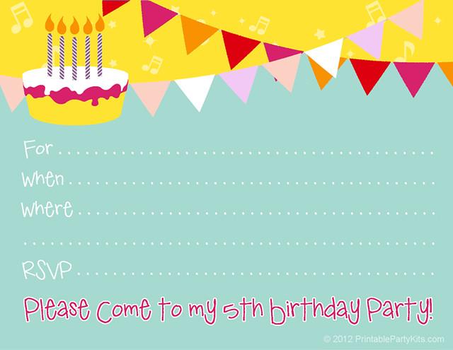 Free Birthday Invite Templates for great invitation design