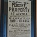 Original advertisement: Personal property auction