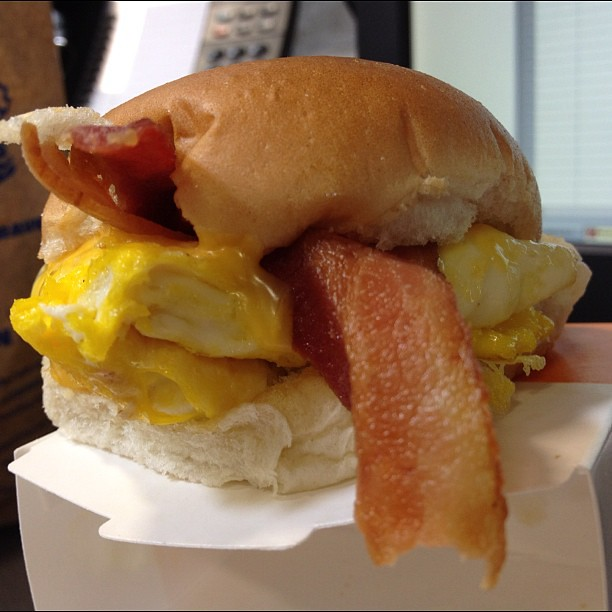 White castle breakfast slider w bacon egg and cheese for White castle double fish slider with cheese