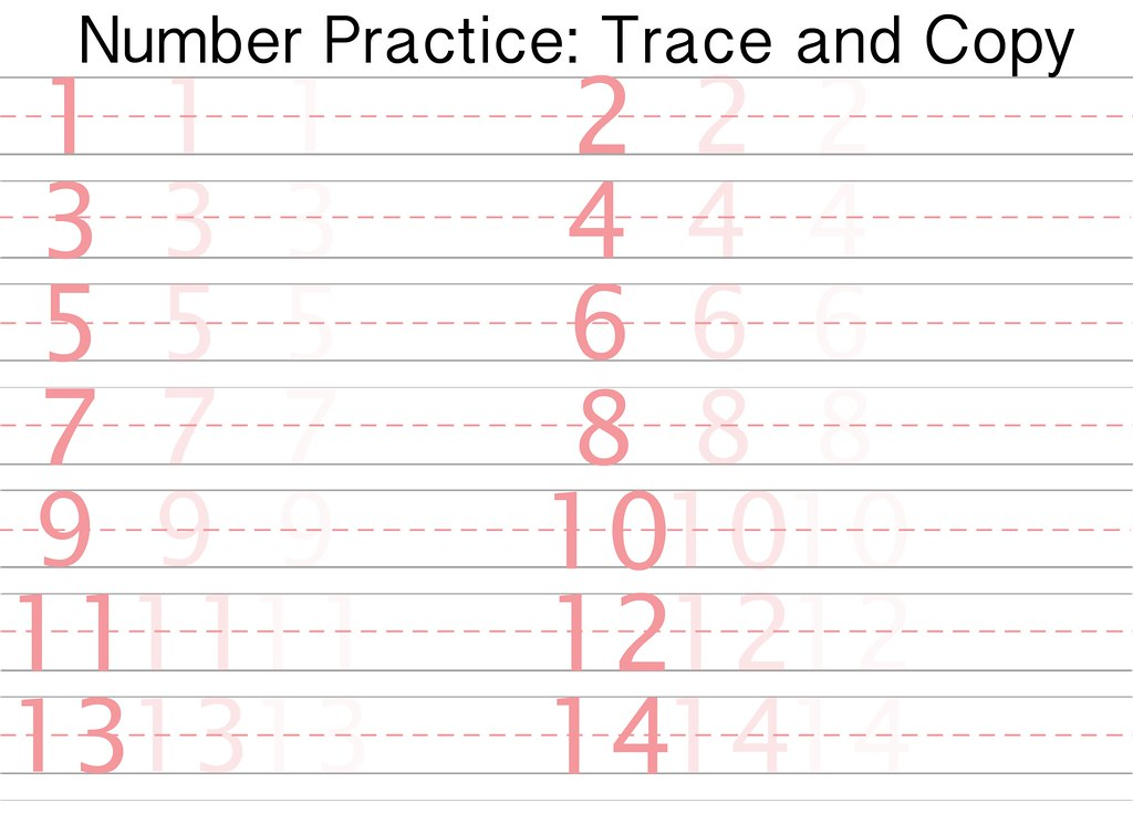 Free Printable Number Writing Practice Sheet