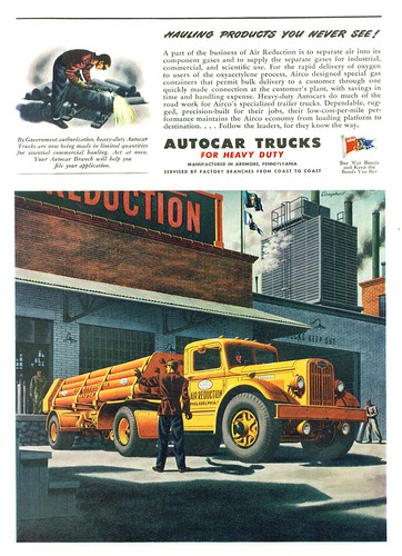 1945 Autocar Trucks, Air Reduction Co. | by gdmey