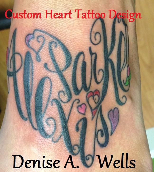 alexis parker heart tattoo design inked design by denise flickr. Black Bedroom Furniture Sets. Home Design Ideas