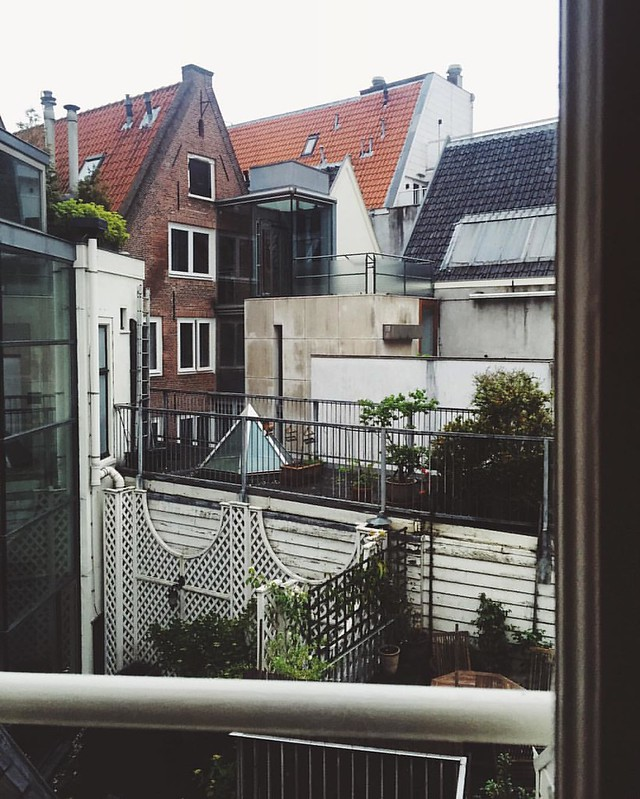 from my last morning from the @airbnb in Amsterdam.