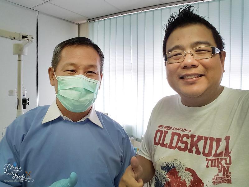 sensodyne dentist selfie