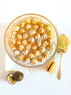 Passionfruit & Lemon Trifle with Macarons | by raspberri cupcakes
