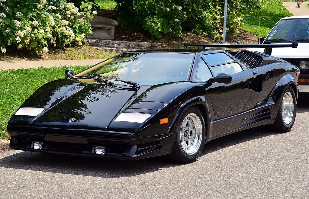 1989 lamborghini countach 25th anniversary black flickr. Black Bedroom Furniture Sets. Home Design Ideas