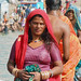 Woman at the ghat